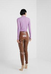 Pinko - GRADINO PANTALONE COCCO LUCIDATO - Kalhoty - brown - 2