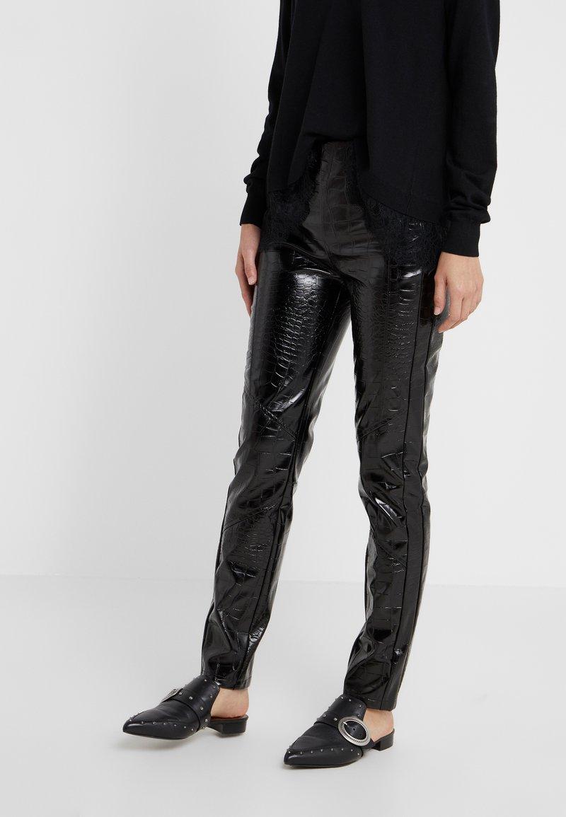 Pinko - GRADINO PANTALONE COCCO LUCIDATO - Trousers - black