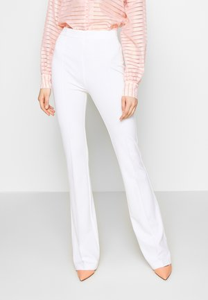 MANDARINO PANTALONE PUNTO STOF - Pantalon classique - bianco