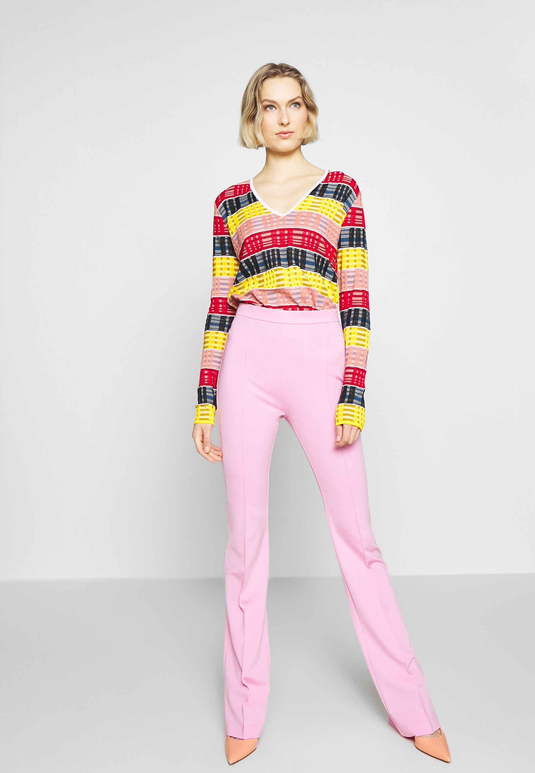Pinko Mandarino Pantalone Punto Stof - Tygbyxor Fiore Di Rosa