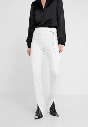 TIMBALLO PANTALONE DOPPIO DIAG - Trousers - bianco