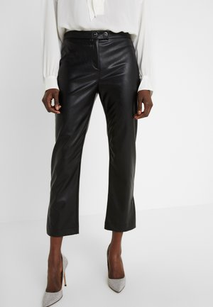 TORRONE PANTALONE SIMILPELLE - Trousers - nero limousine
