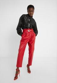 Pinko - MADERA PANTALONE  - Trousers - red - 3