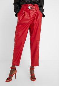 Pinko - MADERA PANTALONE  - Trousers - red - 0