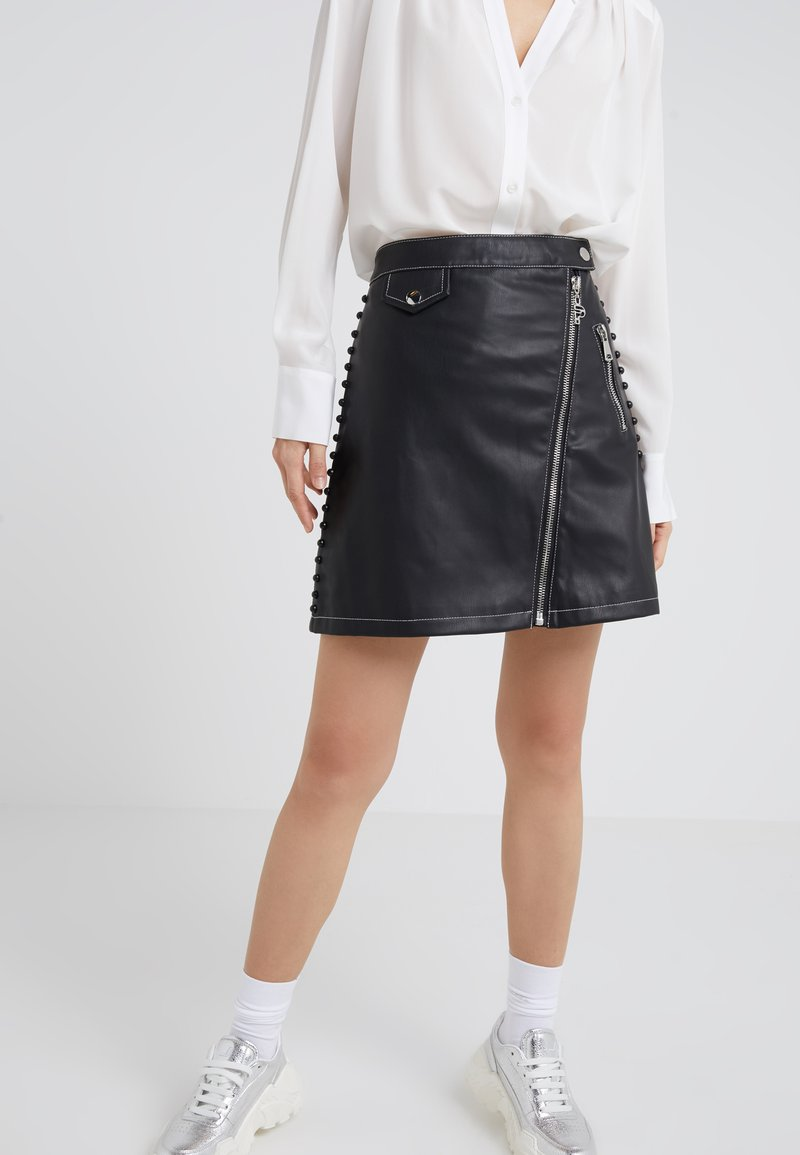 Pinko - ROVINOSO GONNA SIMILPELLE - Mini skirt - black
