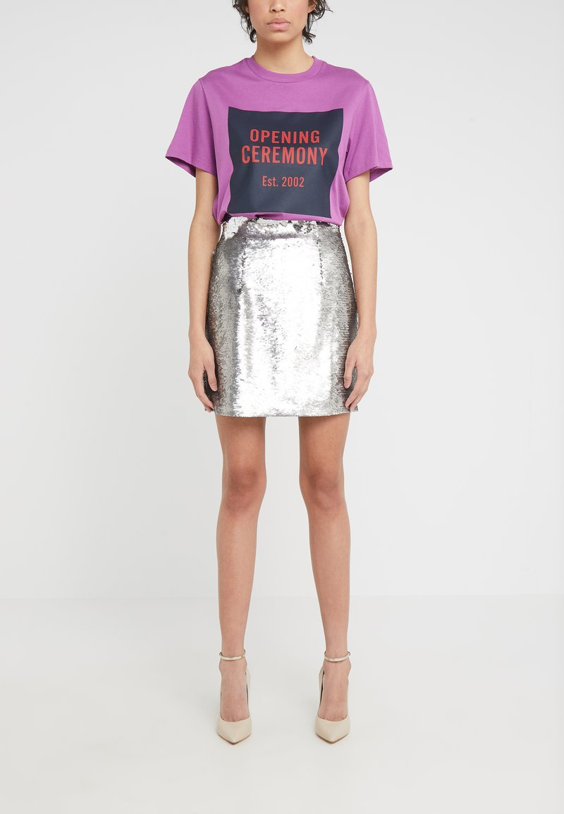 Pinko - LISTARE GONNA FULL - A-line skirt - grey
