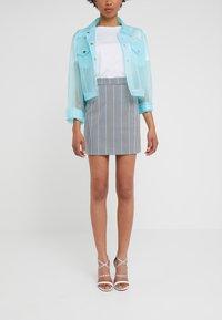 Pinko - PENNELLARE GONNA PUN - Minifalda - multi/bianco/nero/bluette - 0