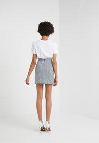 Pinko - PENNELLARE GONNA PUN - Minifalda - multi/bianco/nero/bluette - 2