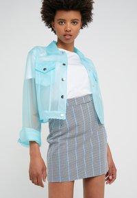 Pinko - PENNELLARE GONNA PUN - Minifalda - multi/bianco/nero/bluette - 3