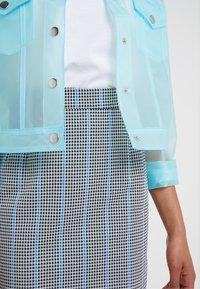 Pinko - PENNELLARE GONNA PUN - Minifalda - multi/bianco/nero/bluette - 5