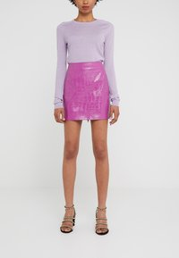 Pinko - OPINION GONNA COCCO LUCIDATO - Minifalda - purple - 0