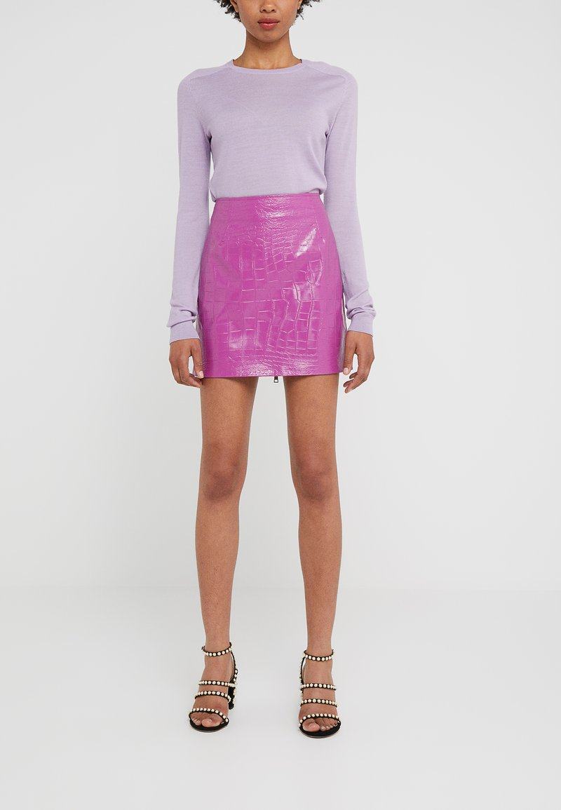 Pinko - OPINION GONNA COCCO LUCIDATO - Minifalda - purple