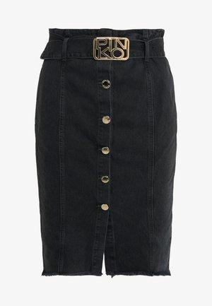 NEGRONI LONGUETTE SKIRT - Pencil skirt - black denim
