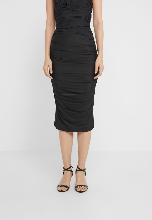 MEGALOMAN ABITO  - Pencil skirt - black