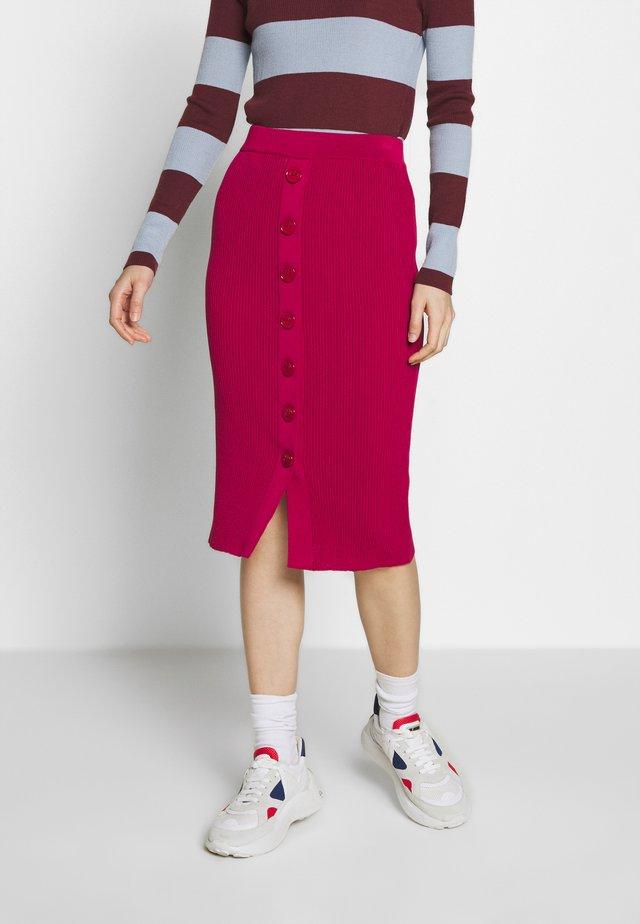 ROSSIGLIONE GONNA COSTINA MIST - Pencil skirt - rosso persiano