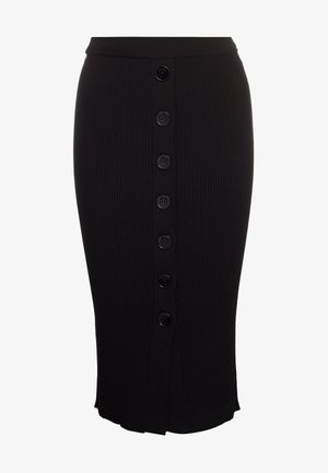 ROSSIGLIONE GONNA COSTINA MIST - Pencil skirt - nero limousine