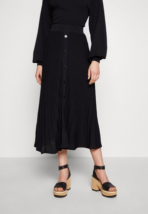 BOGA GONNA COSTA PIATTA - A-line skirt - nero limousine