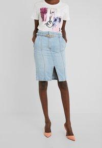Pinko - MAGGIE GONNA - Falda de tubo - indaco ombra - 0
