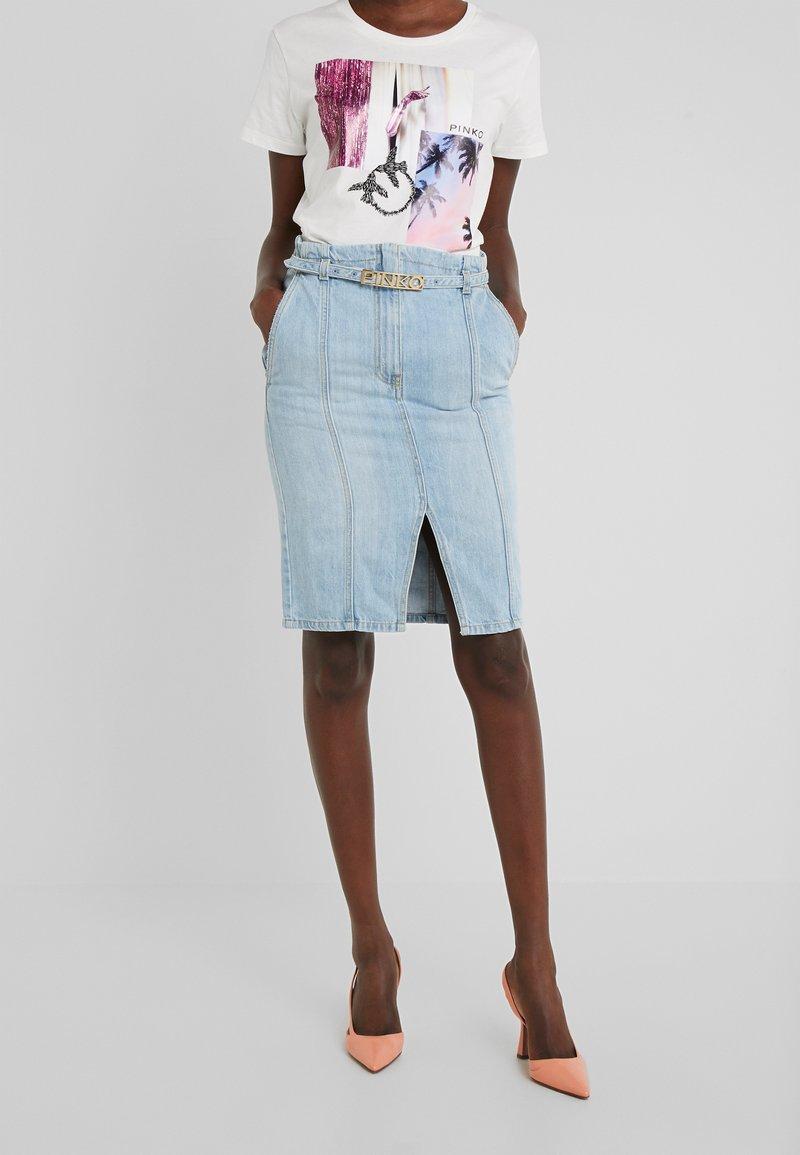 Pinko - MAGGIE GONNA - Falda de tubo - indaco ombra