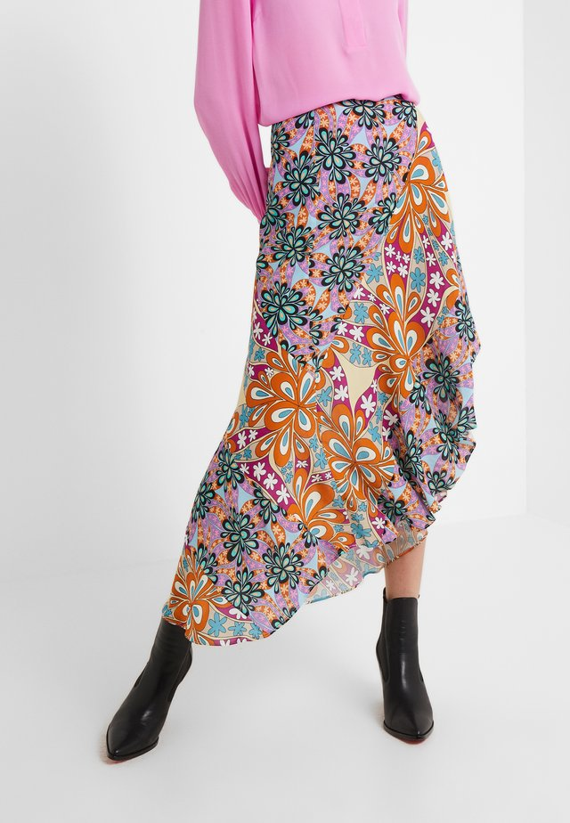 GALLETTE GONNA HABUTAY - Maxi skirt - multi/pink