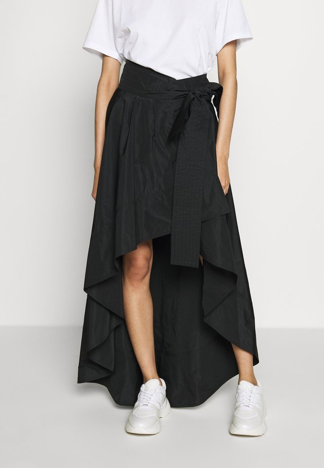 CARAMELLA GONNA TAFFETA - Maxi skirt - nero