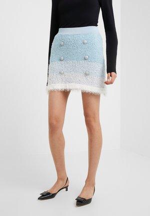REMORA GONNA SPUGNA ARMATURATA - Mini skirt - bianco/azzurro/bluette