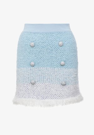 REMORA GONNA SPUGNA ARMATURATA - Mini skirts  - bianco/azzurro/bluette