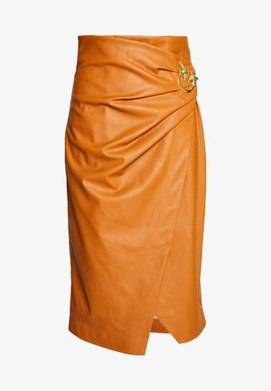 CAGLIARE - Pencil skirt - camel