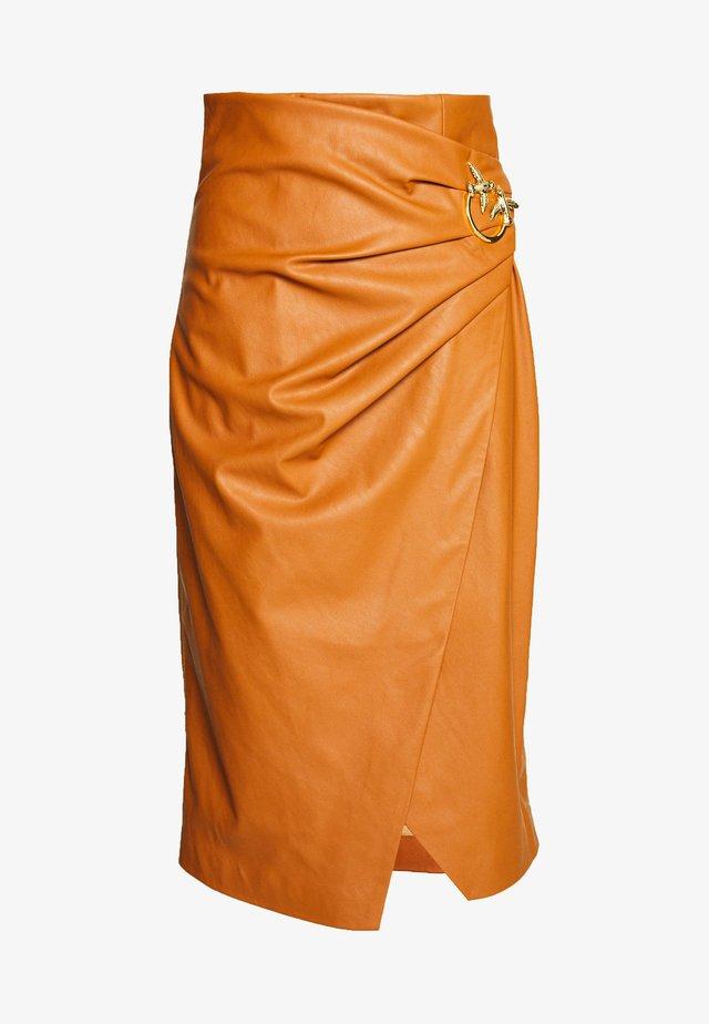 CAGLIARE - Pencil skirt - camel