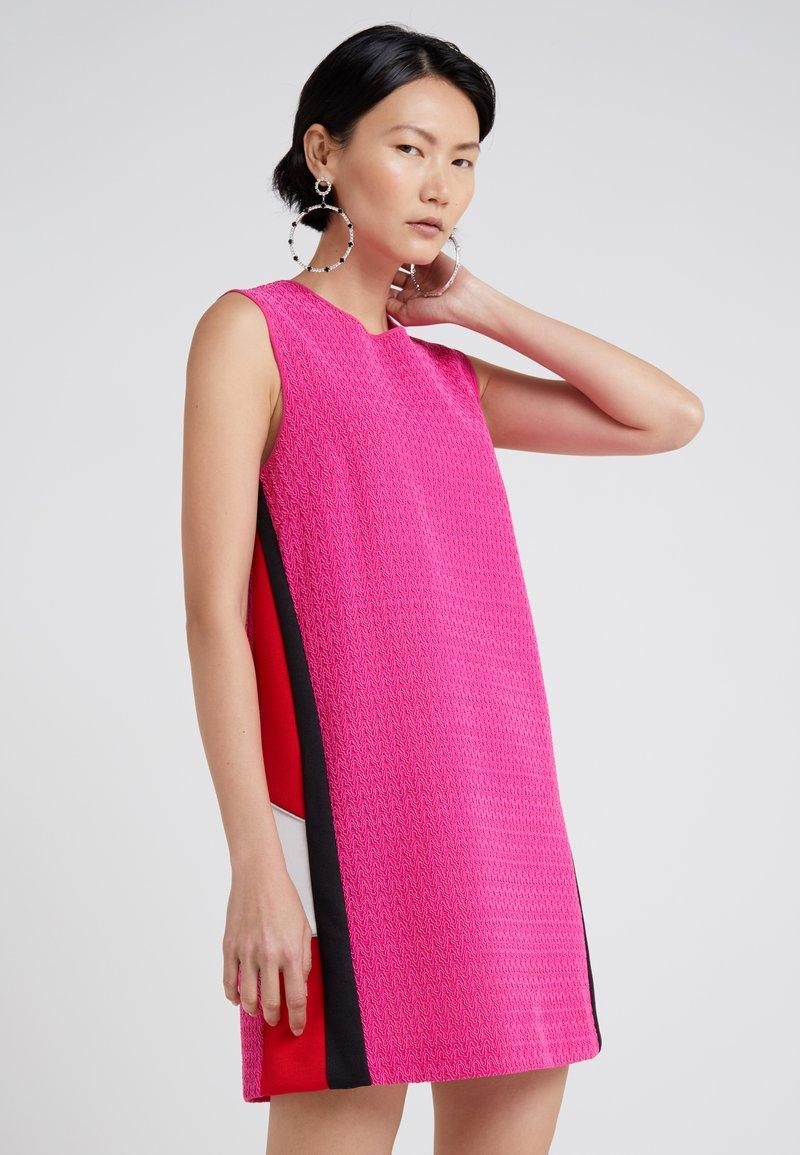 Pinko - DIVINO ABITO PIZZO REBRODE STRETCH - Vestido de cóctel - multi/ciclamo/rosso/bianco