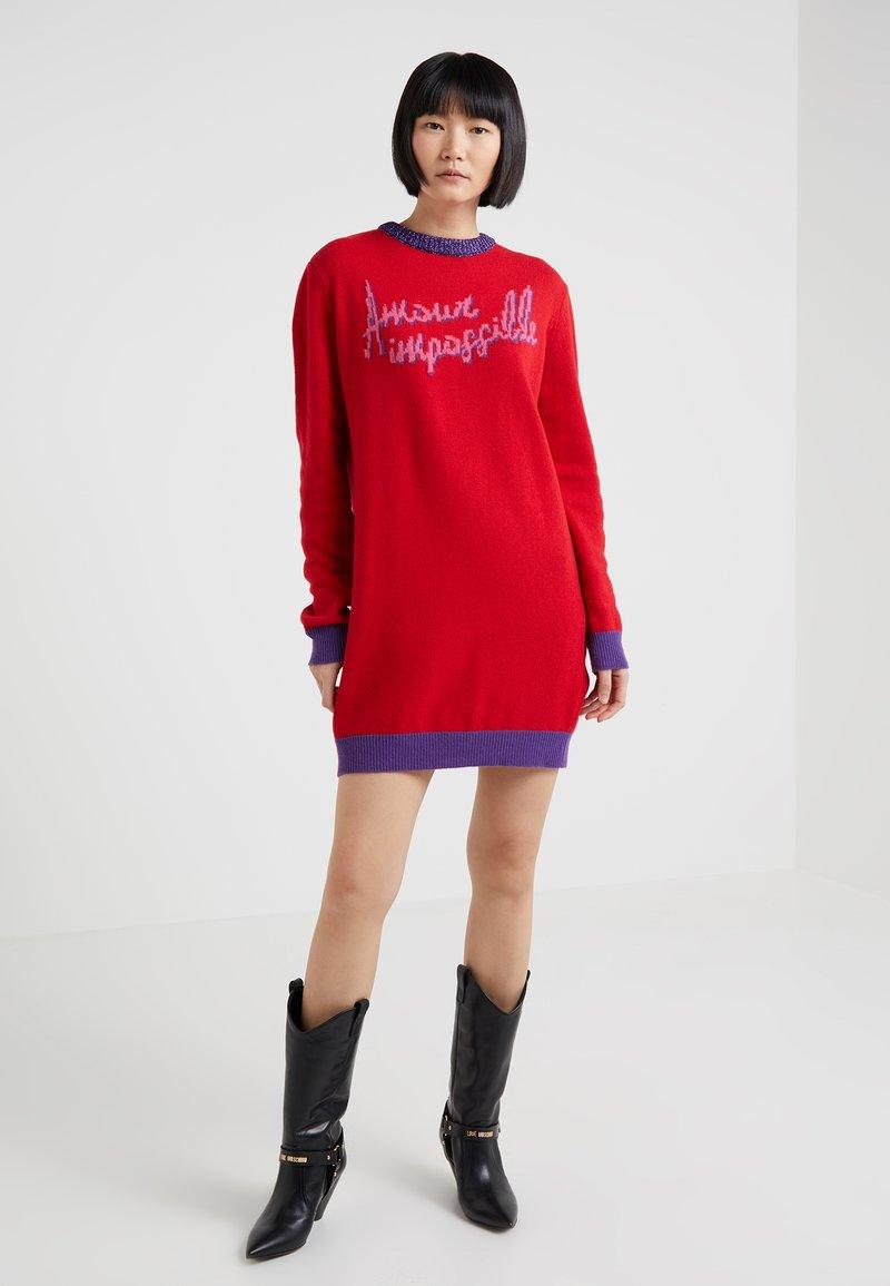Pinko - CASCHETTO ABITO - Jumper dress - red/blue