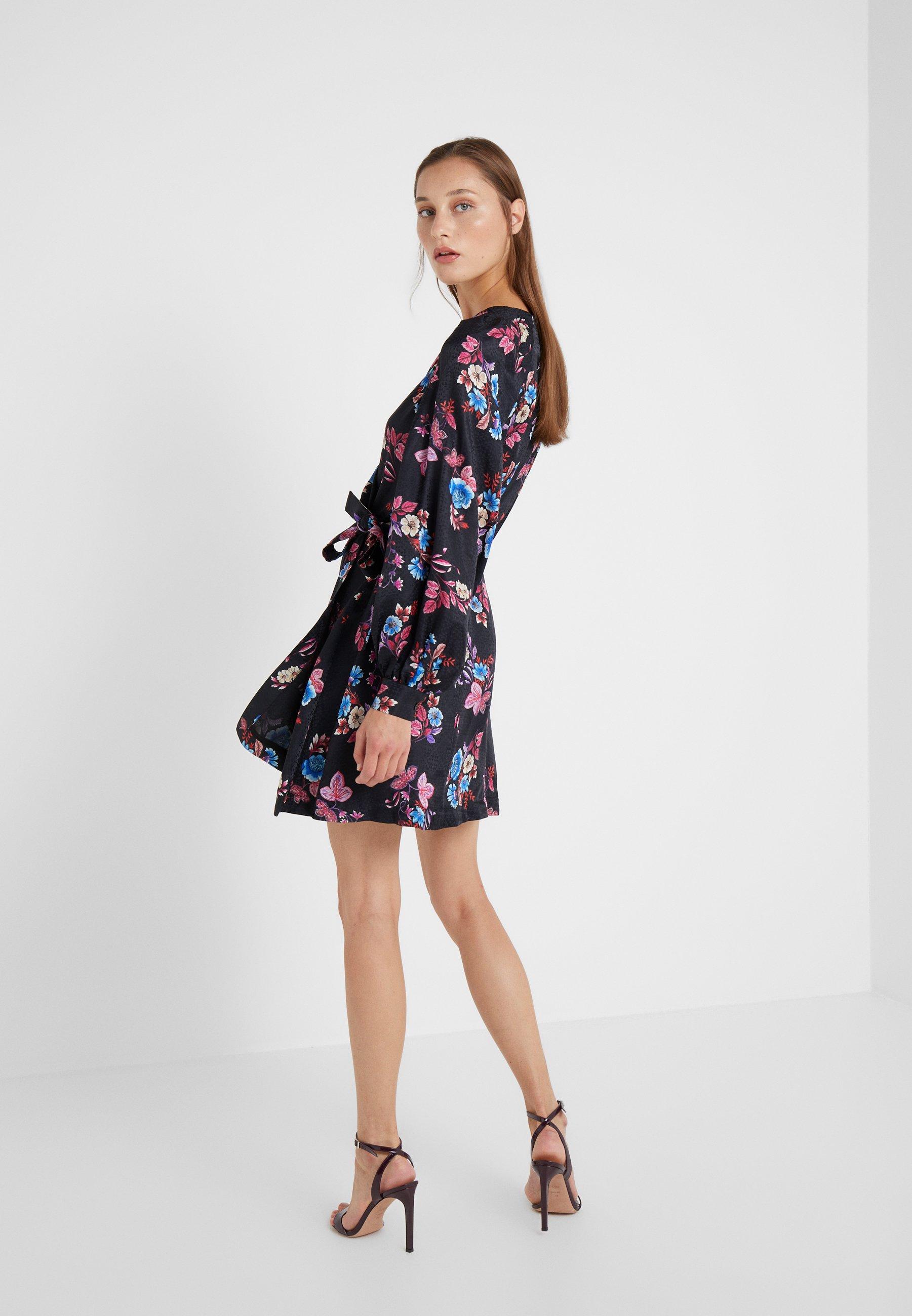 Vestito Multi azzurro nero EleganteMulticolore Pinko XiTuZOPk