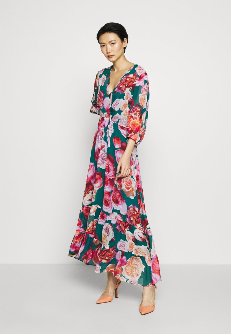 Pinko - BACI DI DAMA ABITO GEORGETTE S - Maxi šaty - multi verde/fuxia