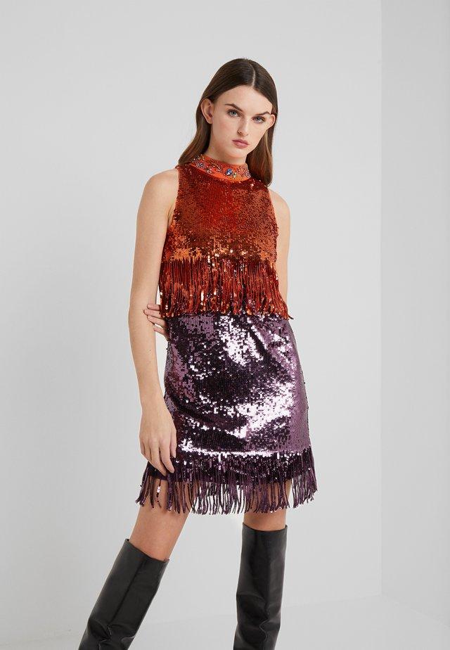MERINGATA ABITO PAILLETTES - Cocktail dress / Party dress - arancione viola