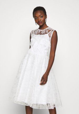 ZATCHBELL ABITO STAMPA FLOCK - Vestido de cóctel - white