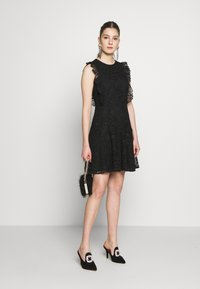 Pinko - TRIGUN ABITO MACRAME MELA - Cocktail dress / Party dress - black - 1