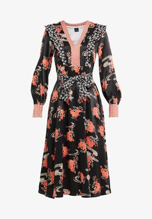 AQUAMAN DRESS FIORE GIAPPO - Cocktailkleid/festliches Kleid - nero/bianco/rosso