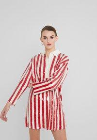 Pinko - TARASSACO ABITO PAILLETTES RIGATA - Cocktail dress / Party dress - avorio rosso - 0