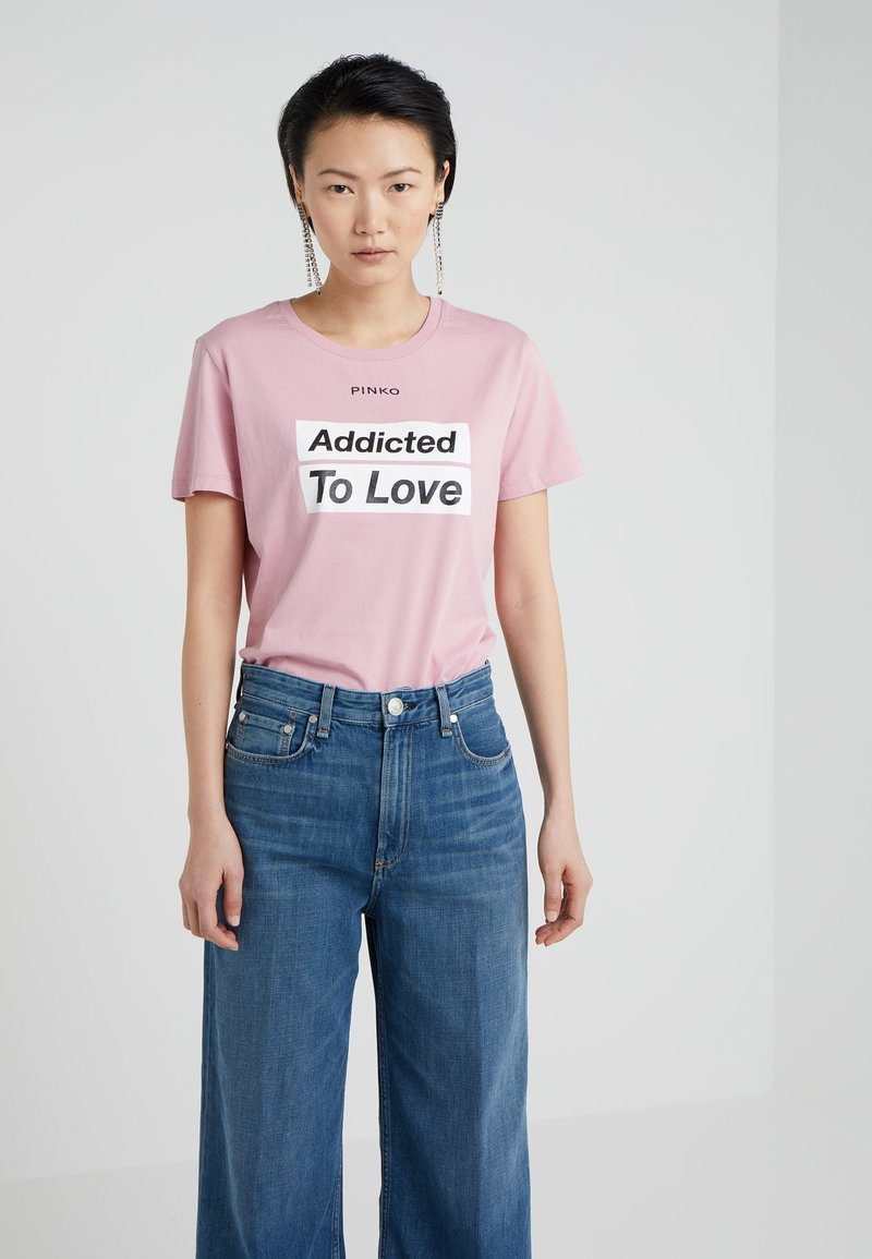 Pinko - SPONTANEO - T-shirt imprimé - pink