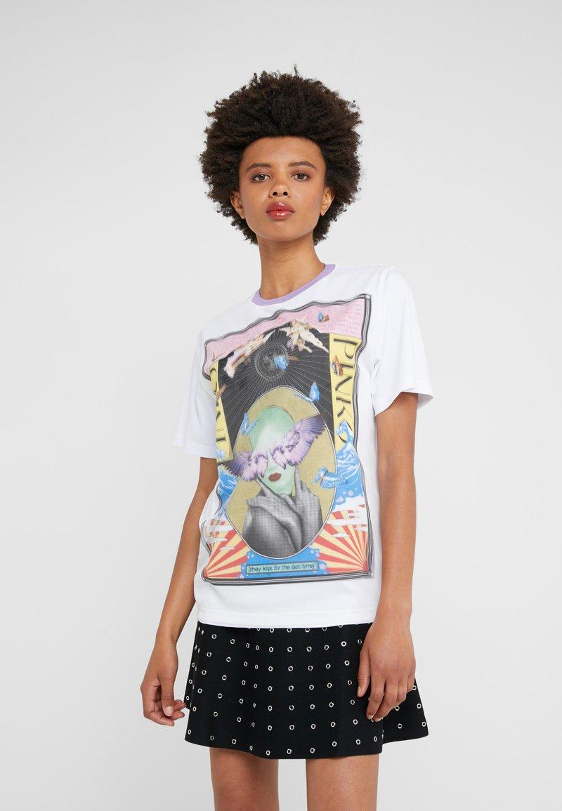 Pinko - BREATH  - T-shirts med print - multibianco/lila