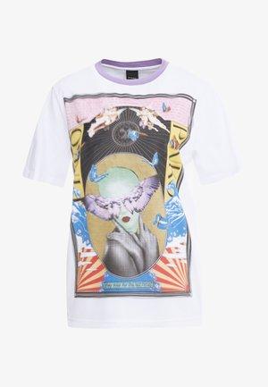 BREATH  - T-shirt z nadrukiem - multibianco/lila