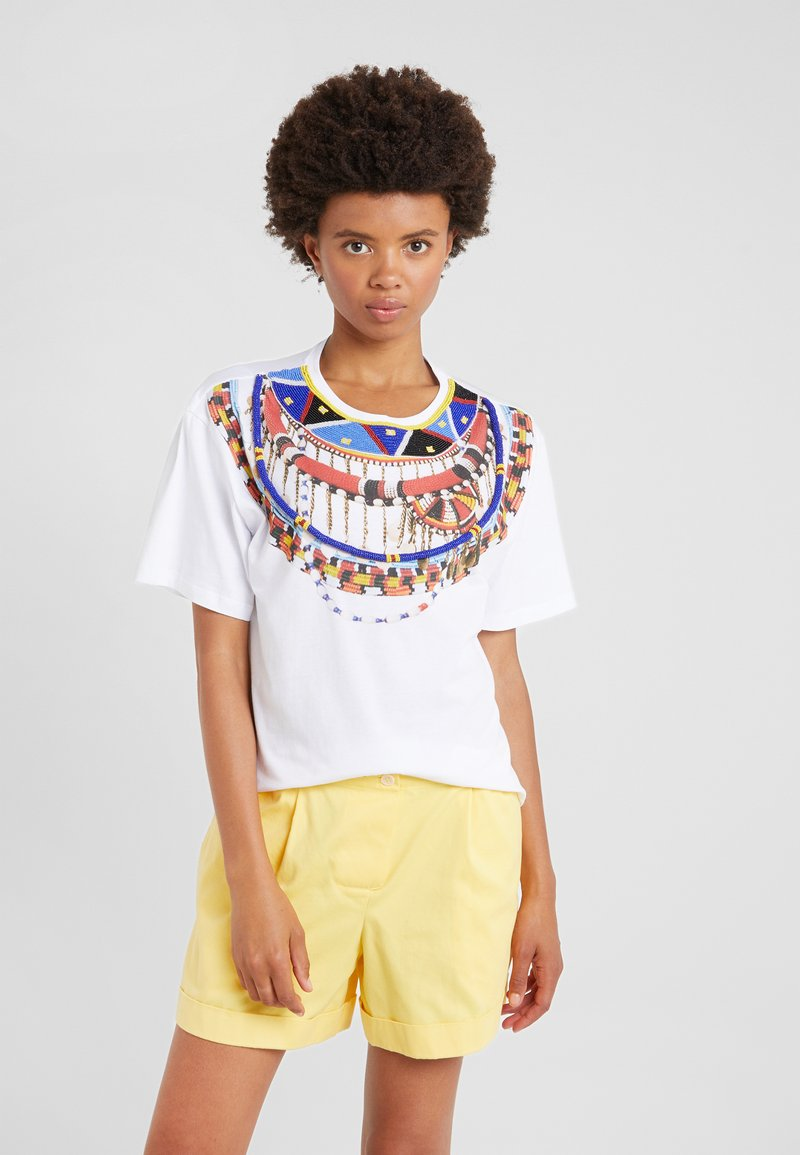 Pinko - BABACO  - T-shirt con stampa - white