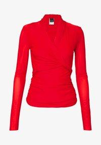 Pinko - PUCCA COPRISPALLE MAGLINA - Bluse - red - 3