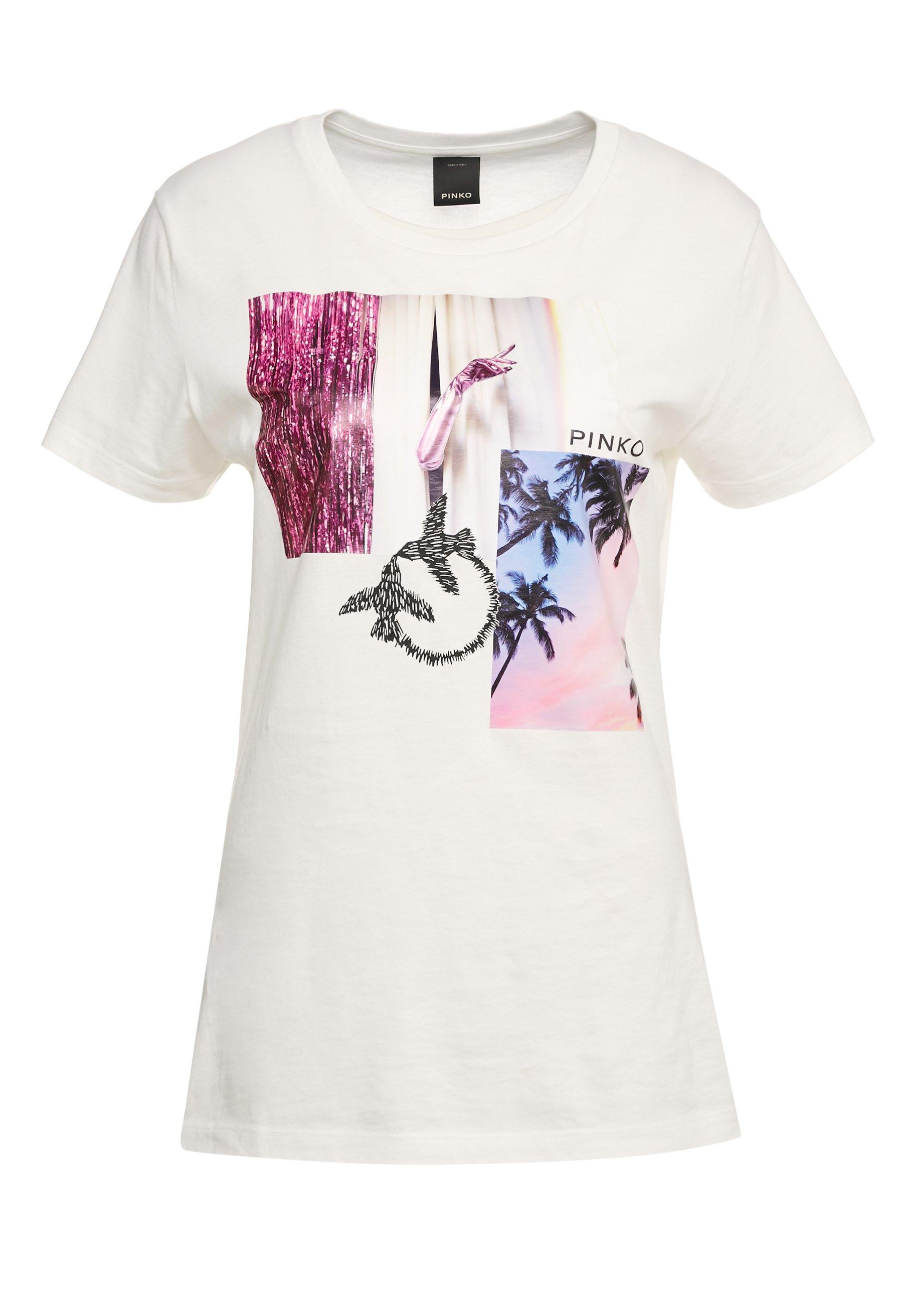Pinko Scones - T-shirt Con Stampa Bianco PcxNCQk