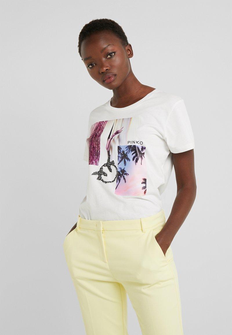 Pinko - SCONES - T-shirts med print - bianco