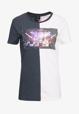 SEMIFREDDO - Print T-shirt - nero/bianco