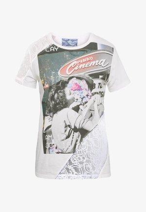 MILLEFOGLIE - T-shirt con stampa - multi bianco/nero/lilla