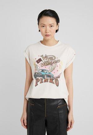 CANNOLO - T-shirt z nadrukiem - beige/pergamena
