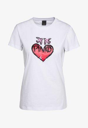 SALLIE - T-shirt con stampa - white