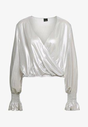 MAIONESE BLUSA GEORGETTE LAMIN - Blouse - argento metallizzato